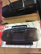 New DS MAX Portable Mini Boombox AM/FM Radio Twin Speaker System Model 19k