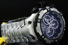 New Invicta Thunder Bolt SWISS MOVT 52MM Black MOP Dial Chrono SS Bracelet Watch