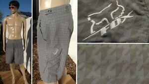 FOX ranger mountain bike cargo shorts padded cycling liner check print mens 32 M