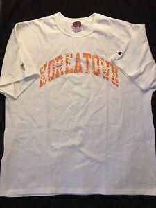 Anwar Carrots X Champion Koreatown Men's Short Sleeve T-Shirt Size XL White