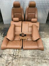 BMW 3 SERIES E92 PRE LCI M SPORT BROWN LEATHER INTERIOR ELECTRIC SEATS COMPLETE