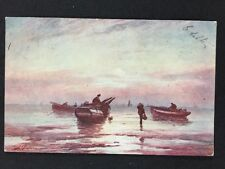 Vintage Postcard: #47: Artistic: An Early Moonrise: Faulkner & Co : Posted 1905