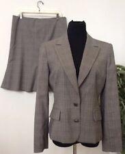 Anne Klein Women's Grey Houndstooth Polyester Blend 2 Piece Skirt Suit Sz 10 EUC
