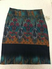 LULAROE XL Multicolor Knee Length Skirt - NWT