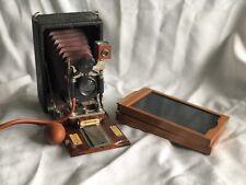 Antique CENTURY Folding Camera w/ Film Holders