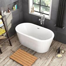 1500x800x760 Bathroom Round Freestanding Bath Tub Acrylic Waterflow Included