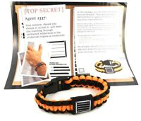 LOOT CRATE Paracord Survival Bracelet Orange and Black.  Fast Shipping!