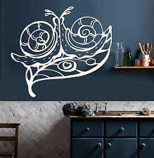 Vinyl Wall Decal Snails Heart Love Home Room Decor Stickers (350ig)
