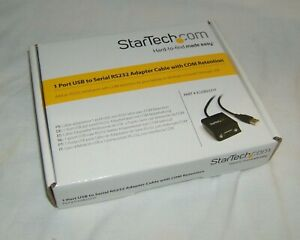 StarTech1 Port USB to Serial RS232 Adapter Cable with COM Retention NEW in box