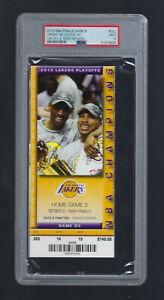 PSA MINT 9 - NBA FINALS CELTICS @ LAKERS 2010 FULL TICKET GAME #6 - KOBE BRYANT