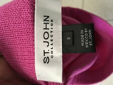 St John Collection womens small skirt pink pencil 78% wool