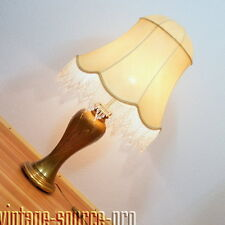 prächtige Messing Boden Stehlampe Tischlampe Schirmlampe Vintage Retro 60er J.