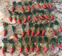 Large Red Hot Chili Pepper Clip On Huge Lot Of 35