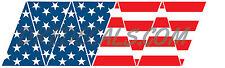 American Flag Top RWB Helmet Top 8 piece Firefighter Reflective Decal Sticker