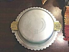 Kensington Vintage 2 piece Aluminum Covered Serving Dish with Brass Handles