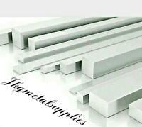"""1/8"""" thick - Cheap Solid Aluminium Flat Bar/Plate - various widths & lengths"""