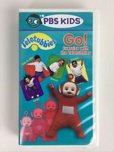 Go! Exercise With the TELETUBBIES VHS 2001 RARE Hard Plastic Case