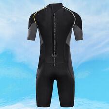 New listing Men 1.5mm Wetsuit Shorty Swimwear Back Zip Neoprene for Diving Adult S