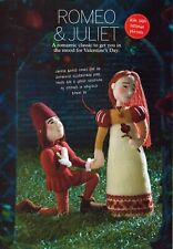 KNITTING PATTERN ALAN DART VALENTINE'S ** ROMEO & JUILET  ** LAMINATED TOY/DOLL