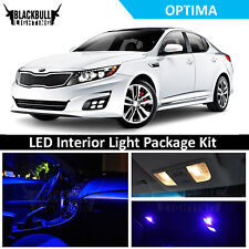 Blue LED Lights Interior Package Accessories Kit for 2011-2018 Kia Optima 9 bulb