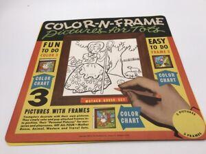 Vintage 1957 Children's Arts & Crafts Activity Color N Frame Book Mother Goose