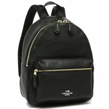 Coach F38263 Mini Charlie Backpack in Pebble Leather Black