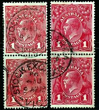 1d RED KGV HEAD PAIRS - ROUGH AND SMOOTH PAPER