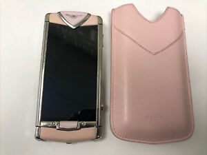 Original Used Vertu Constellation Touch pink leather good condition