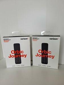 Lot of 2 Verizon Prepaid Orbic Journey 4G LTE Camera Flip Phone New Sealed NIB