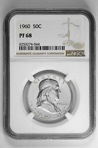 1960 50c Silver Proof Franklin Half Dollar NGC PF 68