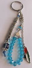 Palestine Map Keychain Key Holder Key Ring with colored beads