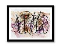 Black Lines abstract - Print of ink abstract painting unique gift ID : 1331