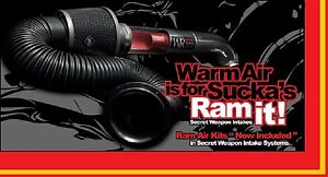 13-15 Chevy Malibu 2.5L Secret Weapon r Cold Air Intake FREE Performance Ram Kit