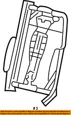 FORD OEM Front Seat-Seat Back Frame Right 6L3Z1661018A