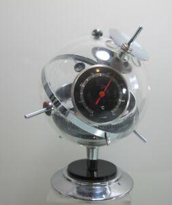Wetterstation Sputnik Barometer Hygrometer Thermometer 70er Jahre (D)