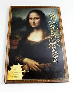 The Great Masters Jigsaw Book 4 96 Piece Puzzles Da Vinci Michelangelo Rubens +