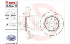 BREMBO Juego de 2 discos freno Trasero 282mm HONDA CR-V 08.8868.20