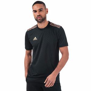 Adidas Men`s Tiro Jersey T-Shirt Black S M  Football Workout Running Gym Fitness