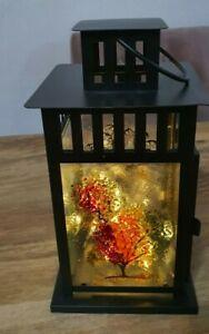 Designed Glass Lantern Candle Holder Patterned Lantern Colourful Lantern
