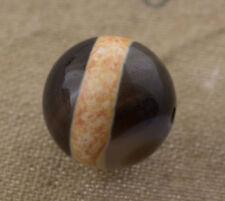 Dzi bead Perle tibetaine medecine à bande Gzi Agate Pure Feng Shui 1077  B17