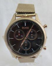 BOSS Hugo Boss 1513548 Companion Rose Gold Chronograph Mesh Bracelet 42mm Watch