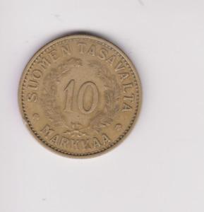 FINLAND 10 MARKKAA 1938.GOOD GRADE. U.395