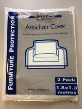 Armchair Covers, pack of 2 chair covers moving Removals,decoration Storage BNIB