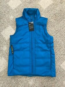 Womens Nike Synthetic Fill Golf Vest Blue Size Small S 930359-301