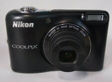 """Nikon COOLPIX L30 Digital Camera 20.1MP 3"""" 5x Optical Zoom Black Good Condition"""