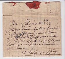 France Stamps 1796 Wrapper Dijon Via Paris Tangier Via Cadiz Postal History