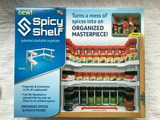 Lot Of 2 Spicy Shelf Cabinet Organizer Spice Makeup Nail Polish Caddy Nib E2