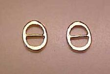 "Rdlc 1/8"" Round Buckles in Traditional 1:9 Model Horse Scale - Gold Plated Pair"
