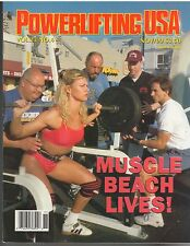 POWERLIFTING USA muscle weightlifting magazine/Gea Johnson Muscle Beach 11-99
