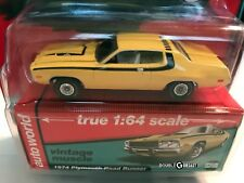 1:64 Auto World Premium - 1974 Plymouth Road Runner - Yellow Blaze with Black